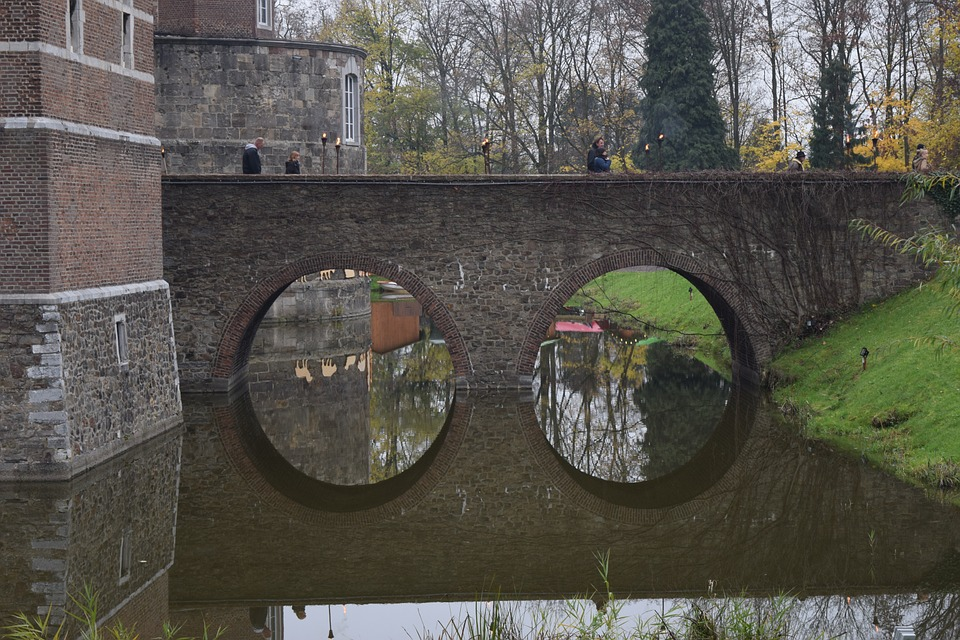 Bridge, Mirroring, Water, Stone, Old, Reflections