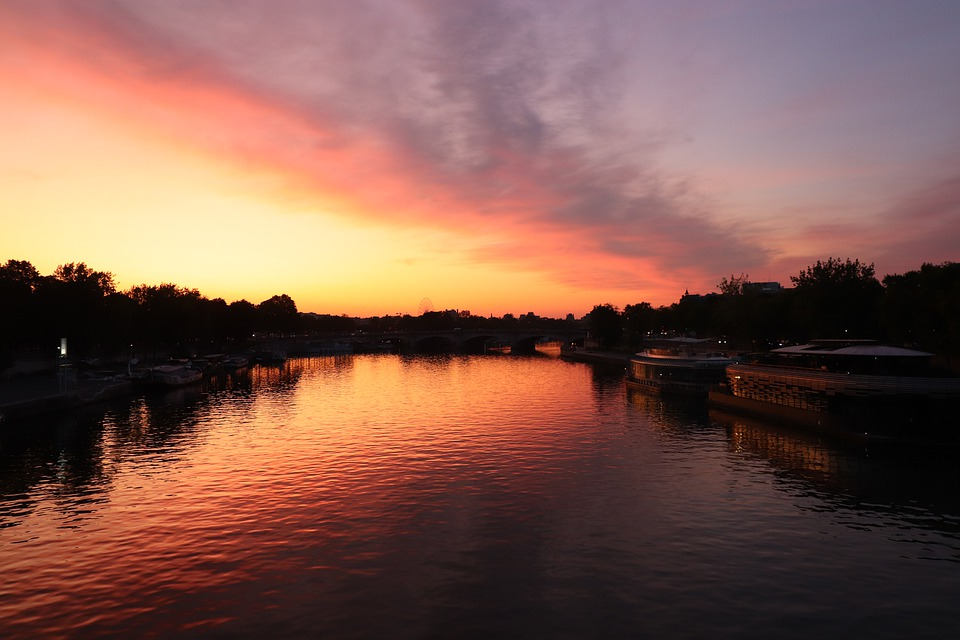 Sunrise, Aurora, Morning, Landscape, River, Reflections