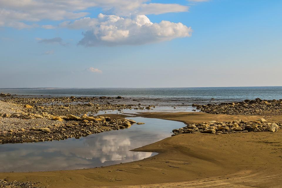 Beach, Sea, Landscape, Reflections, Horizon, Scenery