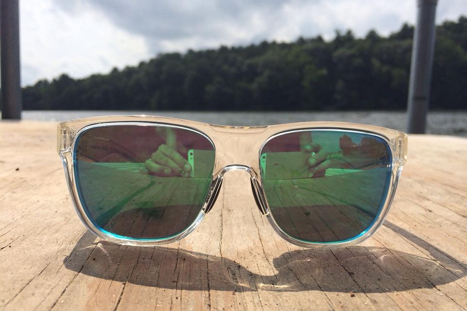 Glasses, Sun, Sunglasses, Reflective, Lake, Summer