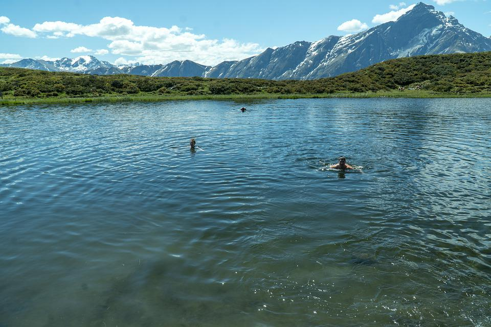 Swim, Bergsee, Alpine, Refreshment, Landscape, Nature