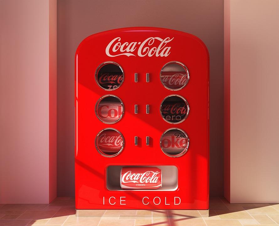 Refrigerator, Red, Soda, Drink, Coke, Cold