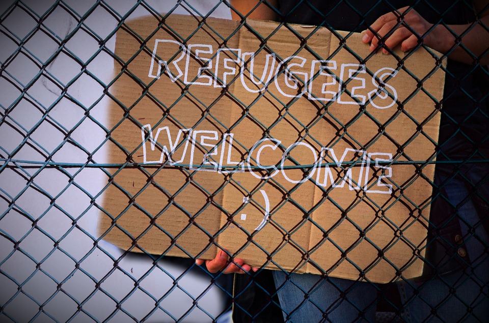 Fence, Shield, Refugees, Welcome, Note, Announcement