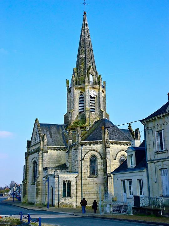 Church, Bell Tower, Region, France, Sky, Blue