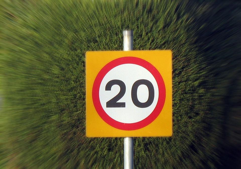 Drive, Twenty, Speed, Limit, Limitation, Regulation