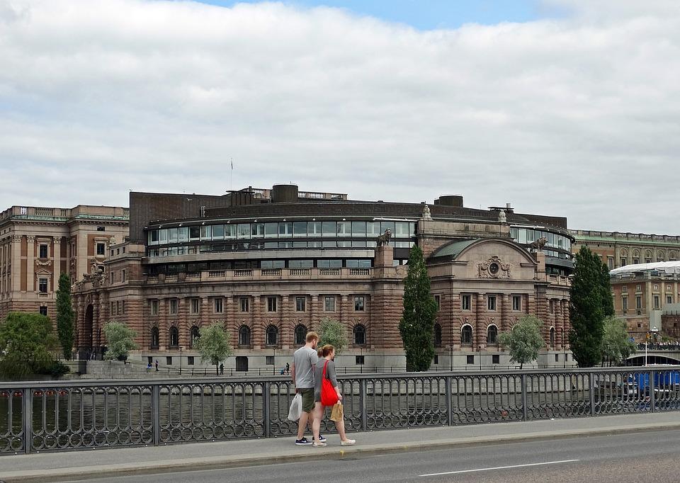 Stockholm, Sweden, Reichstag, Building