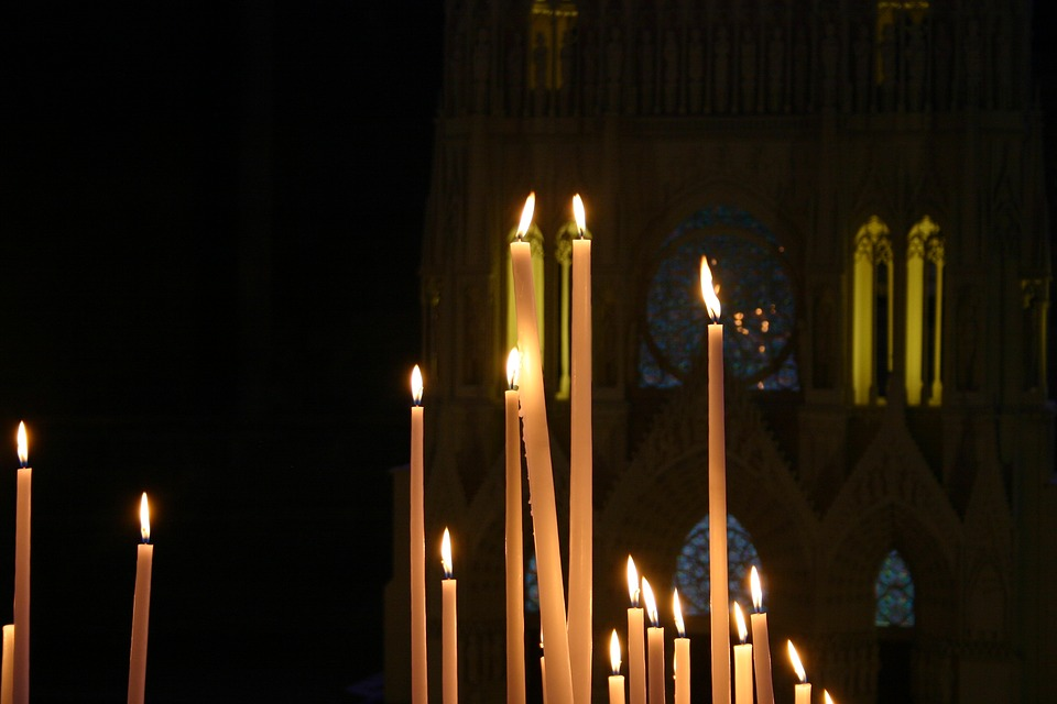 Candles, Faith, Reims Cathedral, Religion, Prayer