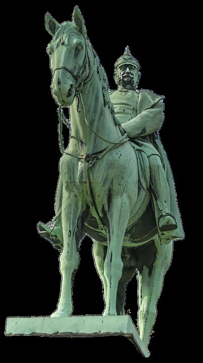 Statue, Reiter, Horse, Monument, Historically