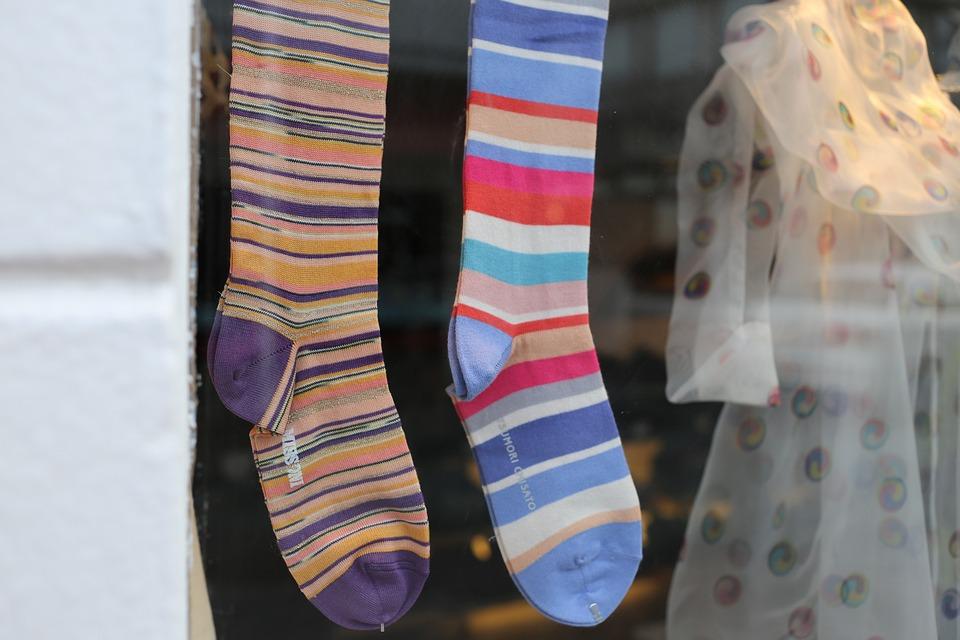 Colorful Socks, Shop Windows, Rejkjavik, Iceland