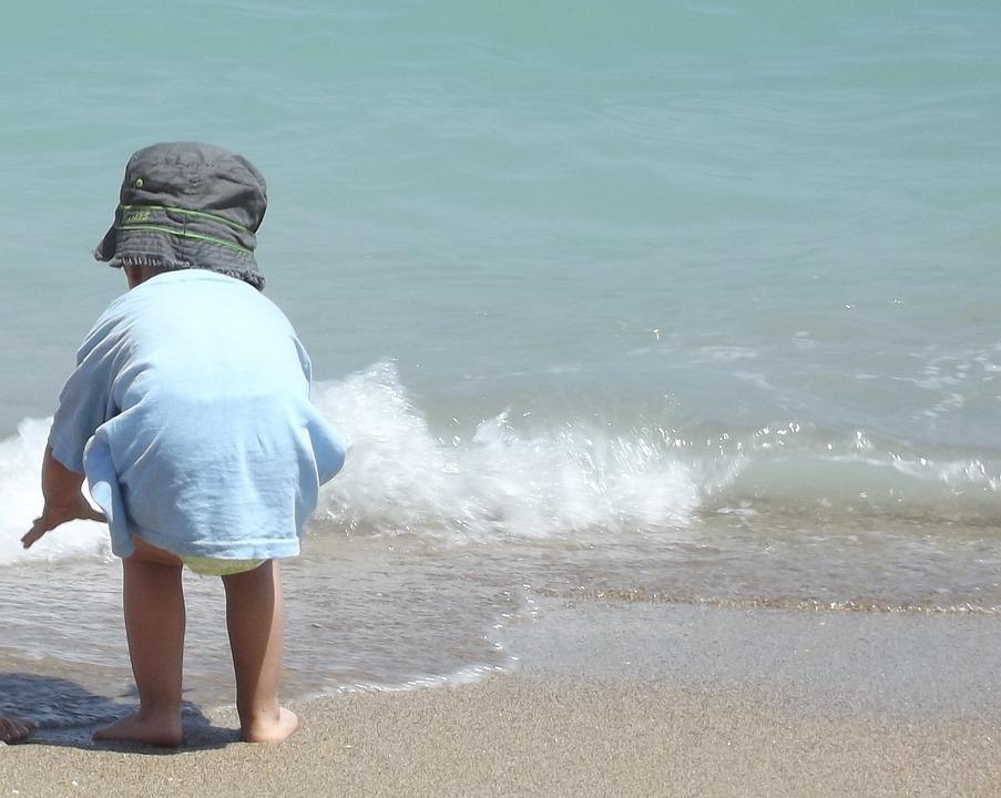 Wave, Seaside, Beach, Splash, Relax, Holiday, Baby