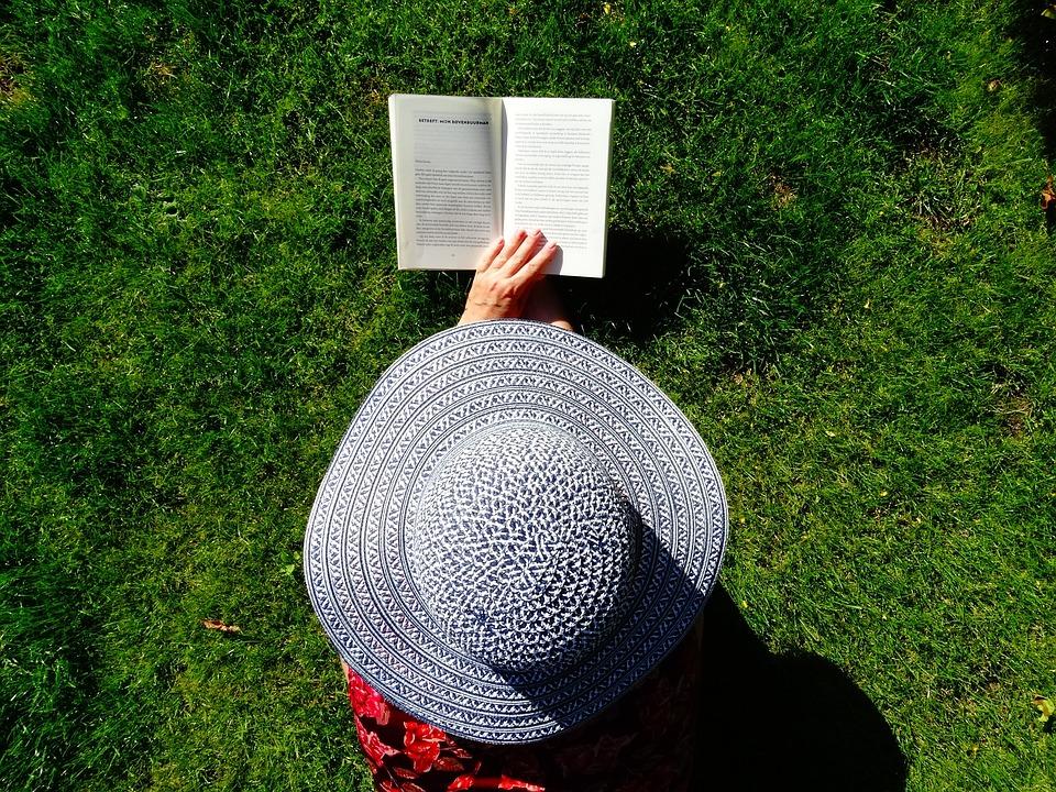 Hat, Read, Summer, Relax, Books, Grass, Book, Garden
