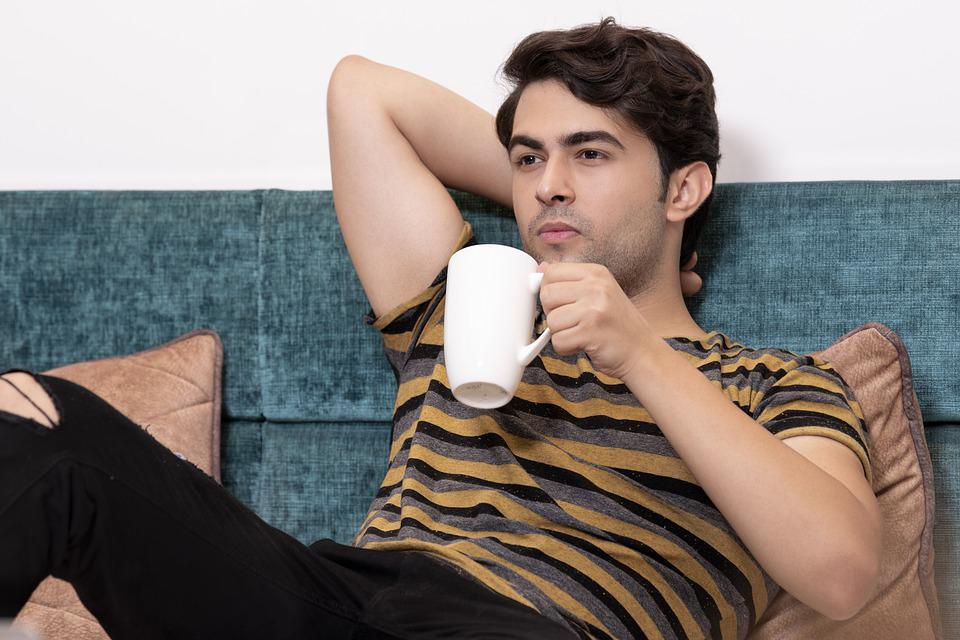 Boy, Relax, Coffee, Man, Young, Relaxation, Mug