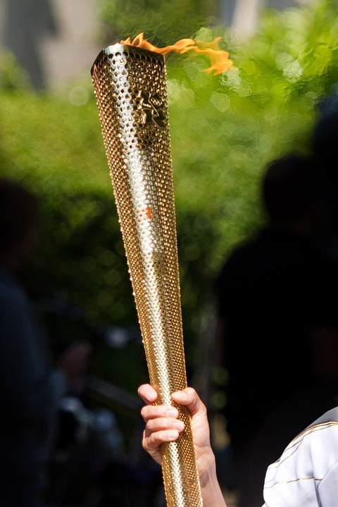 Carry, Fire, Flame, Gold, Light, Olympic Games, Relay