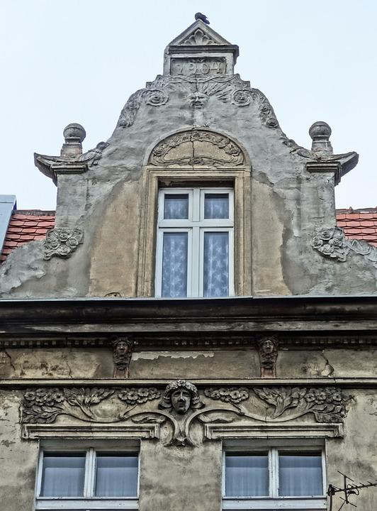 Bydgoszcz, Art Nouveau, Relief, Pediment, Gable