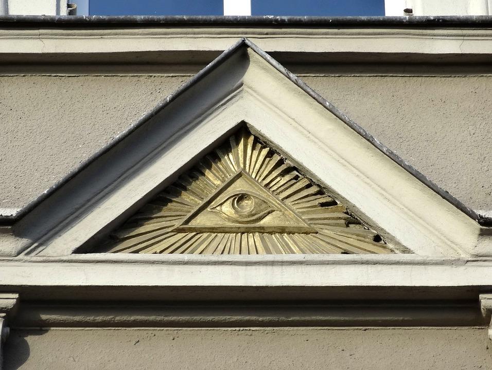 Bydgoszcz, Building, Relief, Illuminati, Facade