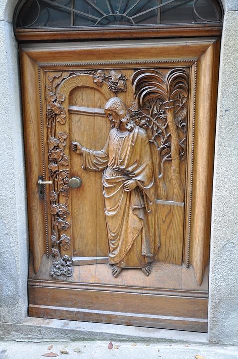 Door, Religion, Jesus, Carving, Passau, Relief