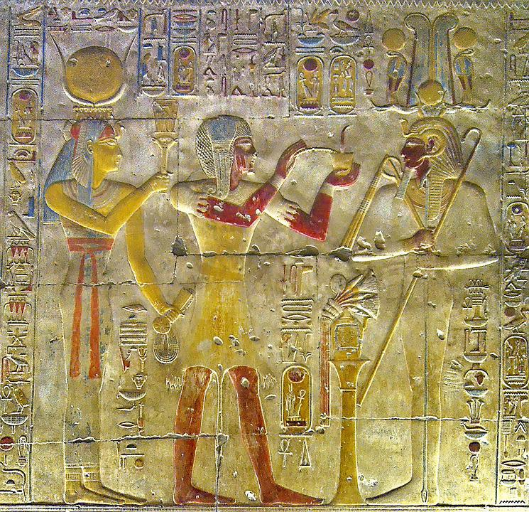 Egypt, Abydos, The Temple Of Abydos, Relief