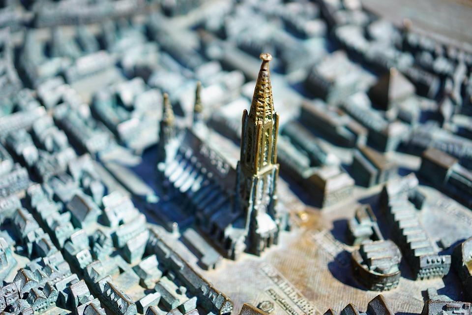 Ulm Cathedral, Münster, Ulm, Relief, City, Metal, Model