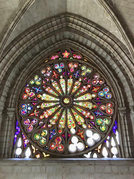 Church Window, Church, Religion, Light, Architecture