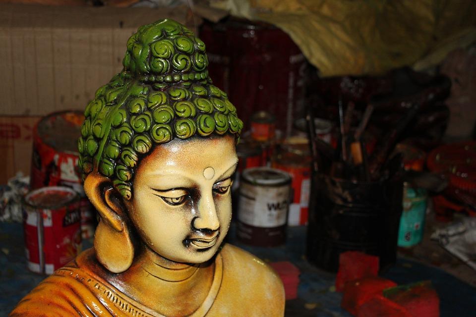 Buddha, Religion, Background, Idol, Workshop