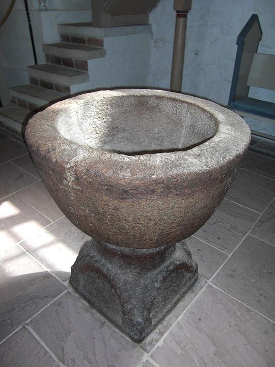 Baptism, Baptismal Font, Protestant, Religion, Church