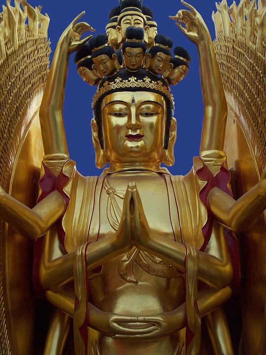 Buddhist, Gold, Asia, Religion, Buddha, Temple
