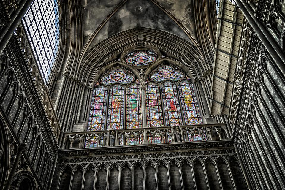 Cathedral, Church, Window, Dom, Religion, France