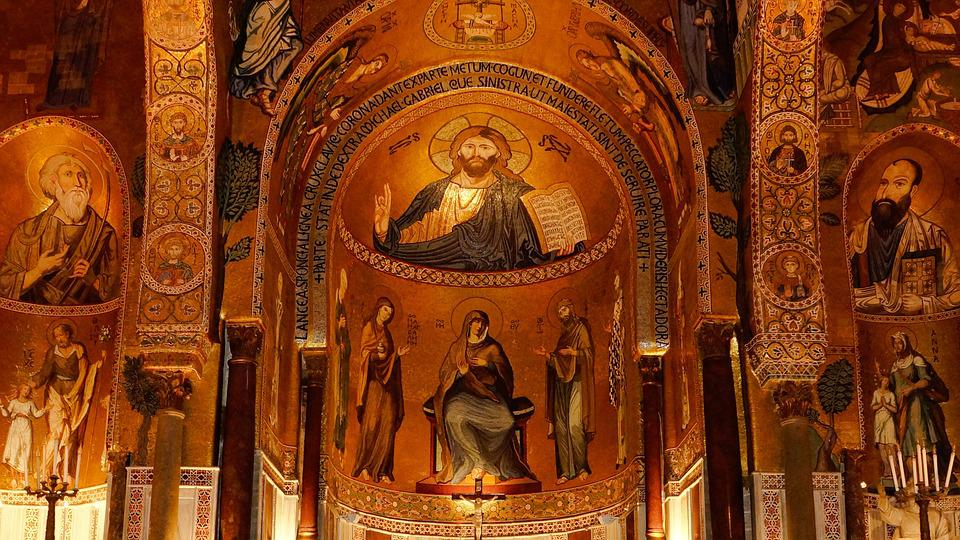 Church, Mural, Painting, Fresco, Saint, Religion