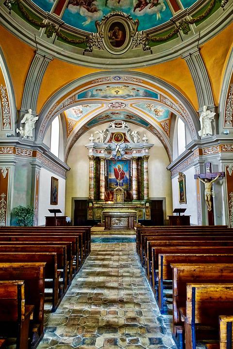 Church, Religion, Cathedral, Inside, Architecture