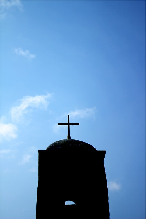 Cross, Religion, Blue, Sky