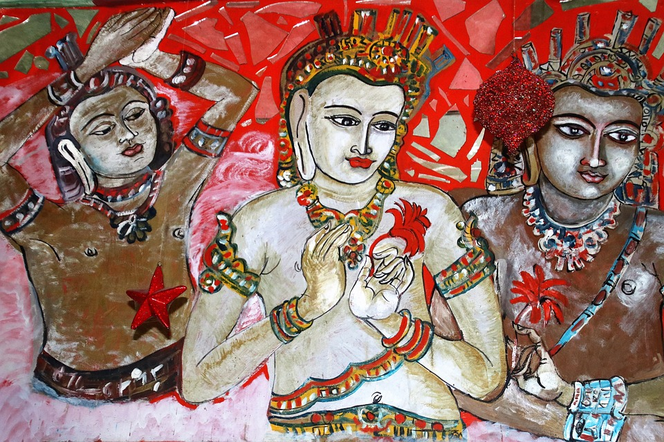 Fresco, Painted, Lake Dusia, The Art Of, Religion