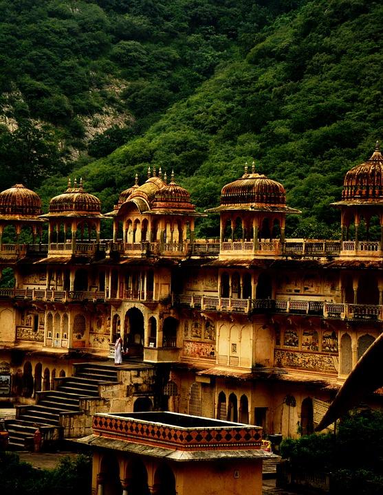 Galtaji, Religion, Jaipur, Temple, Architecture