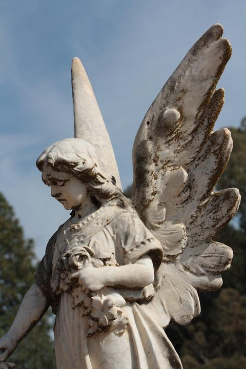 Angel, Death, Grave, Funeral, Statue, Religion