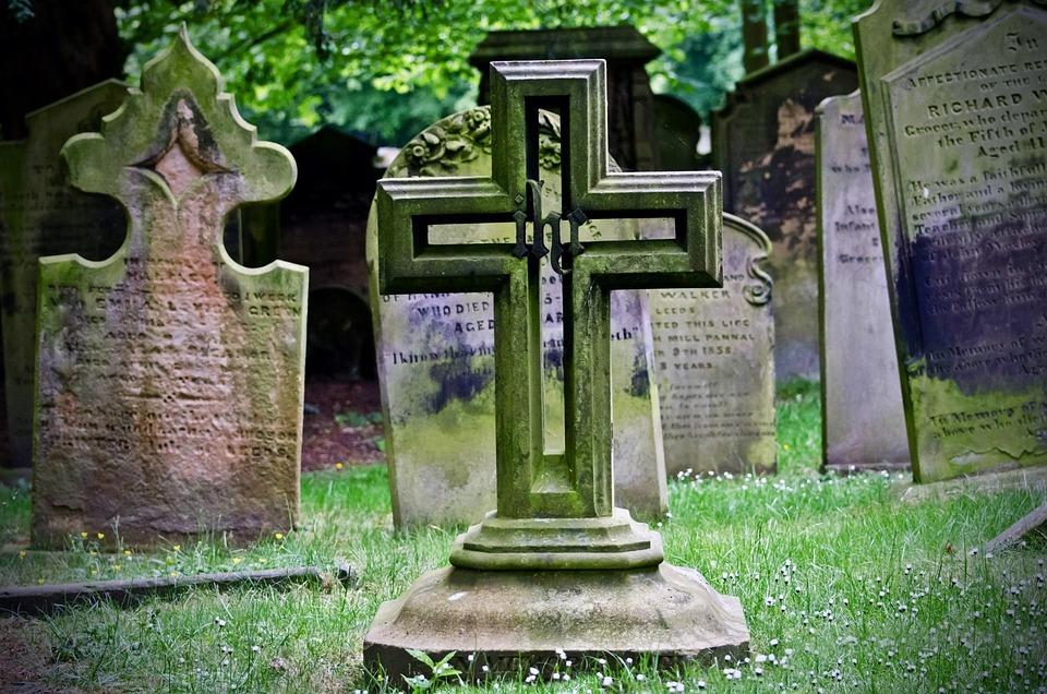 Cross, Graveyard, Tombstones, Death, Monument, Religion