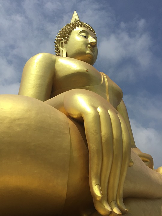 Buddha Statue, Measure, Faith, Religion, Thailand