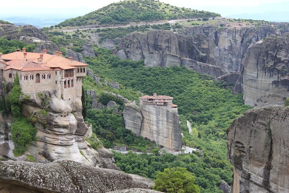 Meteora, Monastery, Greece, Landscape, Religion