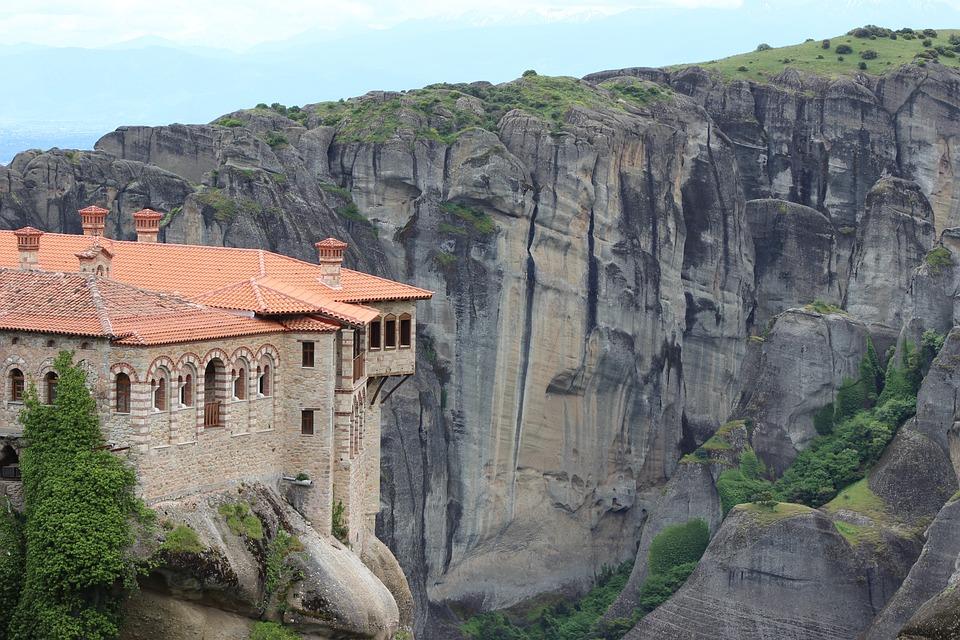 Meteora, Monastery, Religion, Building, Rocks