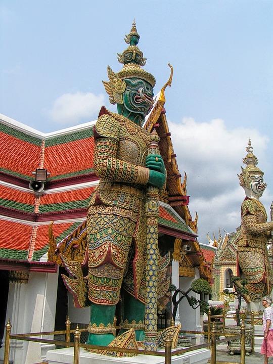 Thailand, Temple, Monuments, Sculpture, Faith, Religion