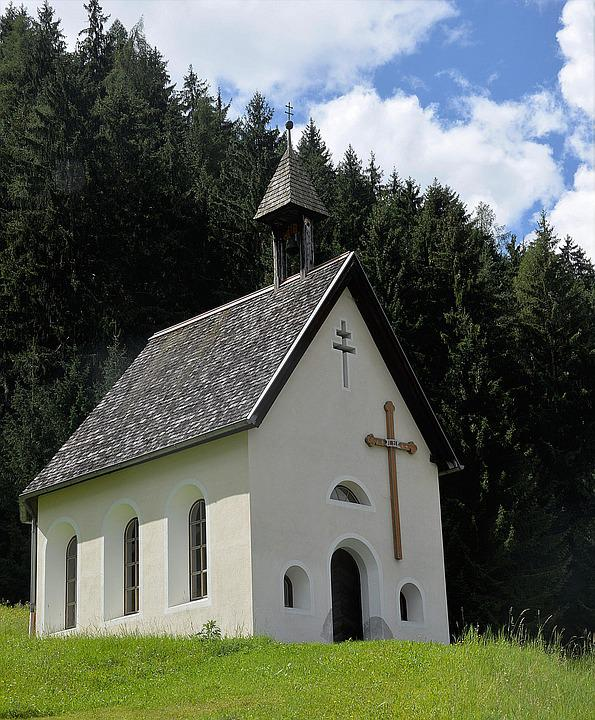 Chapel, Meadow, Forest, Religion, Nature