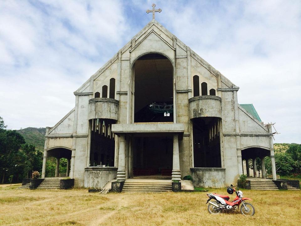 Church, Philippines, Motorbike, Religion, Manila