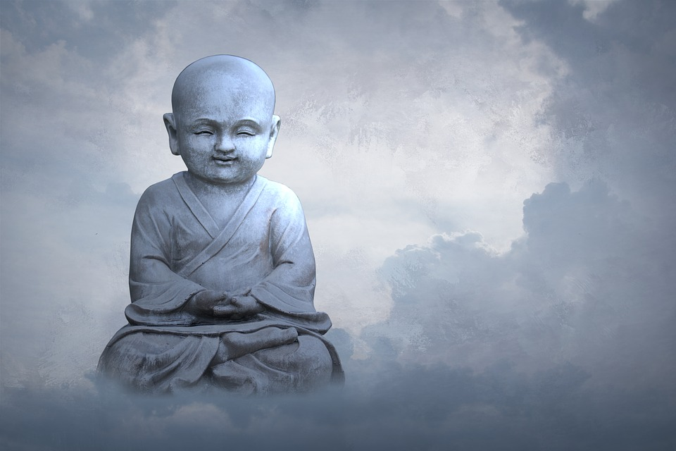 Child, Sky, Religion, Spirituality, Cloud, Buddha