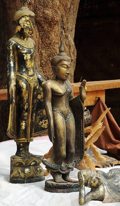 Statues, Buddha, Religion, Buddhism, Sculpture