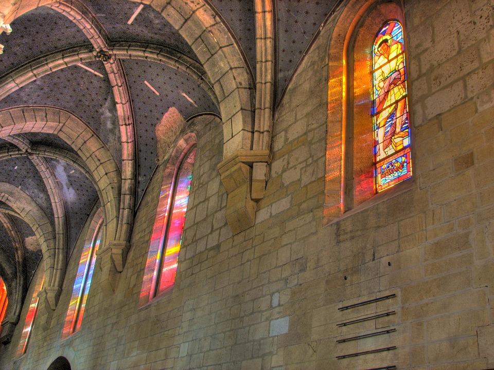 Church, Interior, Windows, Stone, Faith, Religion