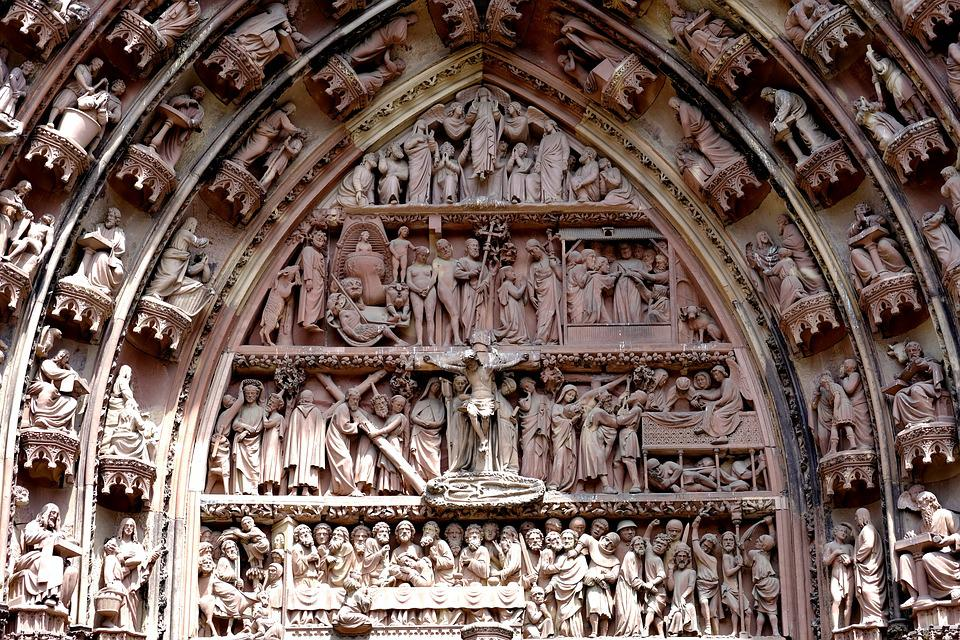 Cathedral, Church, Religion, Dom, Strasbourg, Ornaments
