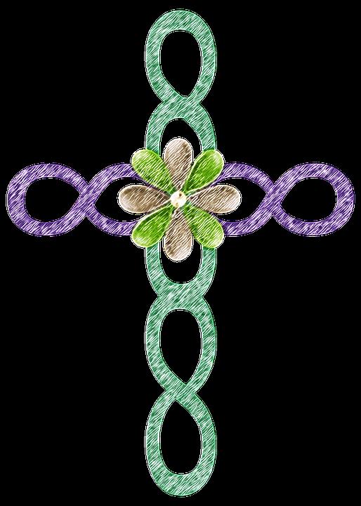 Cross, Green, Symbol, Religion, Decoration