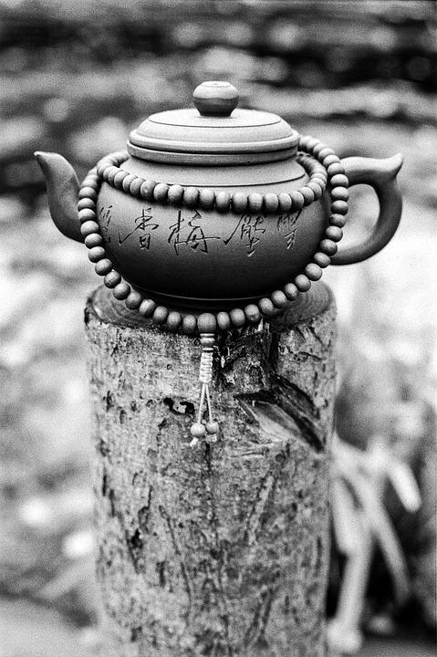 Teapot, Mala, Praying Beads, Buddhist, Prayer, Religion