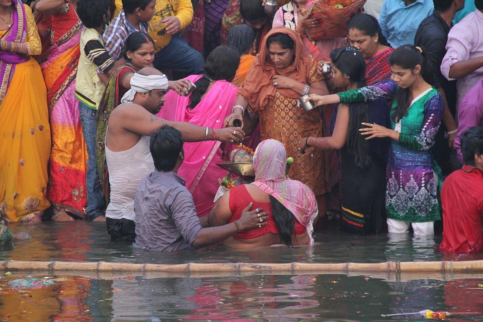 People, Religion, Women, Street, Ritual, Varanasi