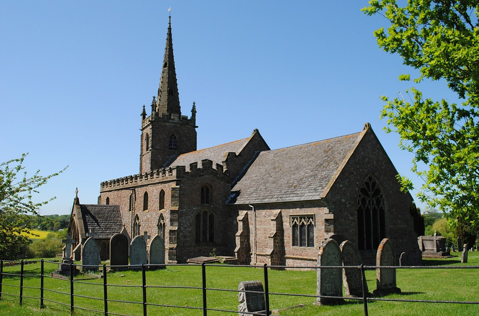 Church, Cemetary, Country, Village, Rural, Religion