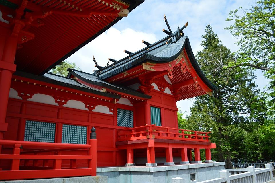 Akagi-jinja, Temple, Building, Religious, Asia