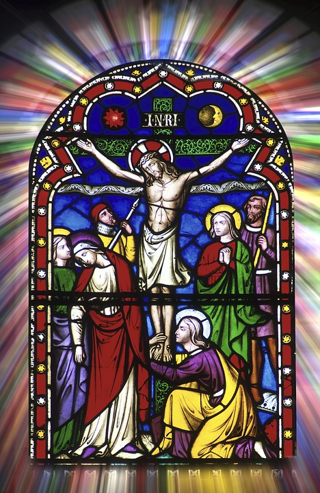 Stained Glass, Religious, Christian, Jesus